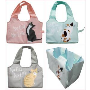 再入荷!  猫雑貨 レジカゴバッグ 保冷・保温 コンパクト 選べる3種 ハチワレ ミケ トラ|tomonyanshop2
