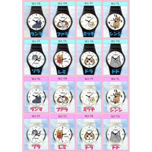 猫雑貨 ネコ柄 名前が音階 ハンドメイド 腕時計 選べる 猫8種×2色|tomonyanshop2