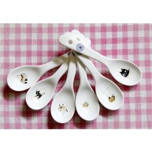 猫雑貨 アニーブンキャット 猫柄レンゲ 6本セット |tomonyanshop2