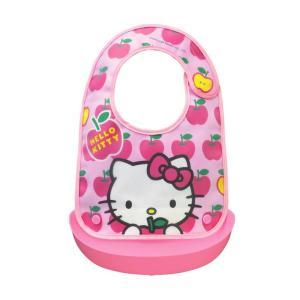 ハローキティ ベビーエプロン ベビー 赤ちゃん お食事 エプロン 女の子 かわいい キティ 日本製 OSK BR-4|tomorrow-life