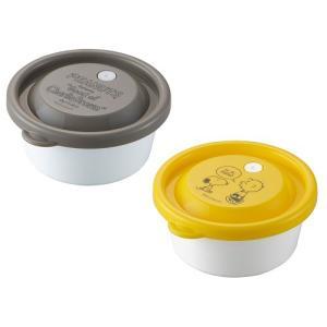 スヌーピー レンジパック 270ml 2個セット 保存容器 密閉 タッパー フードコンテナ 容器 ケース レンジ対応 冷蔵庫 日本製 OSK RPR-27B|tomorrow-life