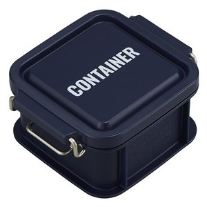 コンテナ ランチボックス お弁当箱 1段 300ml 仕切付 男性 レンジ対応 食洗機対応 おしゃれ ネイビー 日本製 OSK CNT-300 tomorrow-life