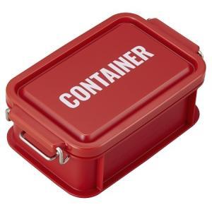 コンテナ ランチボックス お弁当箱 1段 450ml 仕切付 男性 女子 レンジ対応 食洗機対応 おしゃれ レッド 日本製 OSK CNT-450 tomorrow-life