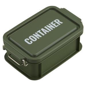 コンテナ ランチボックス お弁当箱 1段 450ml 仕切付 男性 レンジ対応 食洗機対応 おしゃれ カーキ 日本製 OSK CNT-450 tomorrow-life