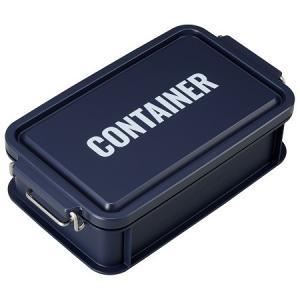 コンテナ ランチボックス お弁当箱 1段 750ml 仕切付 男性 レンジ対応 食洗機対応 おしゃれ ネイビー 日本製 OSK CNT-750 tomorrow-life