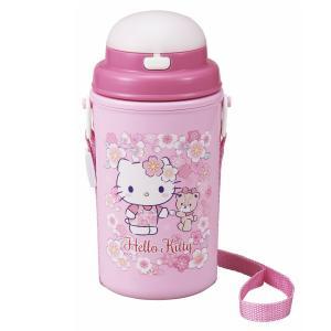 キティ さくら 水筒 ストロー付 保冷 子供 450ml かわいい 女の子 日本製 OSK SC-450S|tomorrow-life