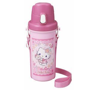 キティ さくら 水筒 直飲み 子供 600ml 女の子 かわいい ピンク 日本製 OSK SC-600B|tomorrow-life