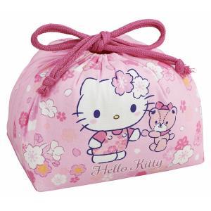 ハローキティ お弁当袋 子供 巾着袋 ランチ巾着 幼稚園 女の子 キティ さくら 日本製 OSK KB-11|tomorrow-life