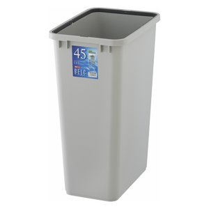 ゴミ箱 ダストボックス 本体 角型 48L リス ベルクペール 角45S ライトグレー|tomorrow-life