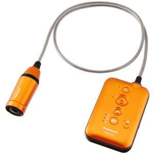 パナソニック ウェアラブルカメラ オレンジ HX-A100-D|tomoshop0218