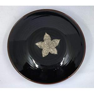 バッチャン焼き 蘭モチーフ丸皿|tomotomoselectshop