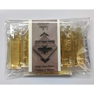 ブータン産はちみつ Pure Happy Honey ホワイトクローバー スティック20 (5g×20本)|tomotomoselectshop