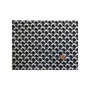 綿60ローン生地 のびのびねこちゃん柄 (黒地) tomoya 02