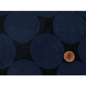 細コール天 濃紺地に大きな紺のドット柄 (約7cm)|tomoya