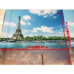 パリの風景柄 インクジェットプリント シーチング生地 パネル単位(1パネル約42cm)|tomoya