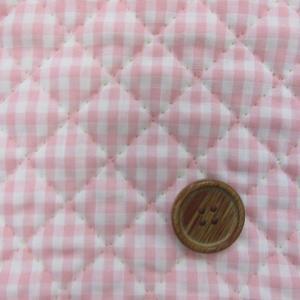 定番広幅 ギンガムチェック 【中】3mm角 (ピンク) キルト|tomoya