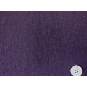 綿麻シーチング エアータンブラー加工生地 (濃紫色)|tomoya