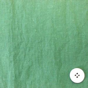 綿麻シーチング エアータンブラー加工生地 (明るい緑 )|tomoya