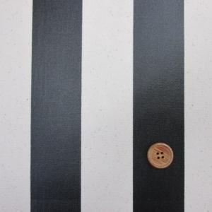 11号帆布 110cm巾 ストライプ (黒) ラミネート tomoya
