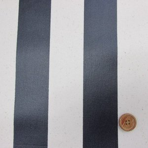 11号帆布 110cm巾 ストライプ (紺) ラミネート tomoya