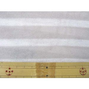 160cm巾 ボーダー柄 ニット地 (ベージュ×生成) ニット生地|tomoya
