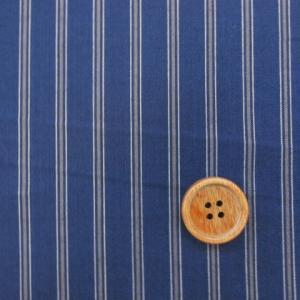 144cm巾 紺にグレーのストライプ柄 綿ブロード生地|tomoya