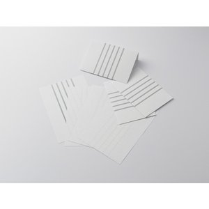 【クロネコDM便 全国送料無料】神戸派計画 KOBEHA レターセット stripe|洋2封筒3枚+A5便箋6枚|グレー (01-00251)[大日本出版印刷]