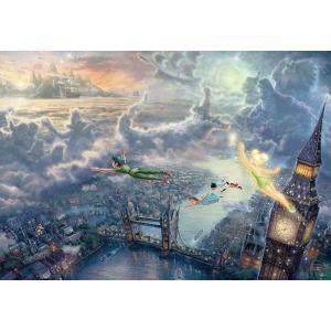 ジグソーパズル 1000ピース ディズニー ピーターパン トーマス キンケード Tinker Bell and Peter Pan Fly to Never Land スペシャルアートコレクション (51x