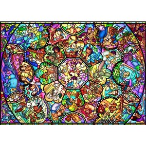 ・4000ピース ジグソーパズル ディズニー オールスターステンドグラス(102x146cm)  (D-4000-564)(テンヨー)梱120cm