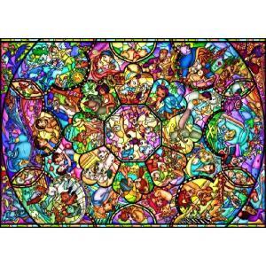 ・ジグソーパズル 2000ピース ディズニー オールスター ステンドグラス(73x102cm) D-...
