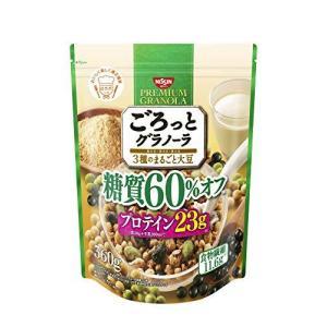 日清シスコ ごろっとグラノーラ 3種のまるごと大豆 糖質60%オフ 360g×6袋|tomozoo