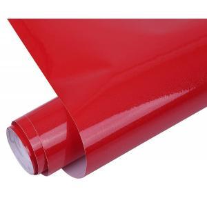 ウォールステッカー ラメ入り 壁紙シール リメイク カッティング シート 防水壁紙 キッチン 風呂 60x500cm (レッド)