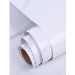 大理石 シート カッティングシート 耐熱 大理石調 インテリアシール 浴室 タイル 61x500cm (ホワイト)