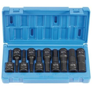 """Grey Pneumatic GY1398H 1/2"""" Drive 10 Pieces Hex Driver Set