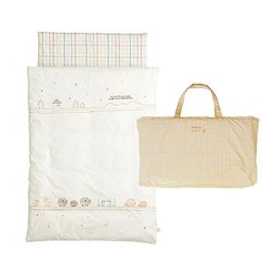 10mois(ディモワ)-Hoppetta  おひるねふとんセット 保育園に持ち運べるバッグ付き 丸洗い可 どうぶつ 約120cm 新生児|tomutomu