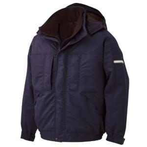 ドリ安全 熱を逃がしにくい 高機能中綿 男女兼用 防寒ブルゾン M4017 ネイビー LL tomutomu
