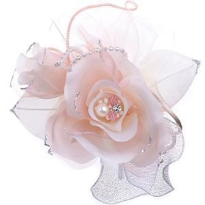 日本製コサージュ サテン薔薇パール294 入学式 入園式 卒業式 卒園式 (ピンク)|tomutomu