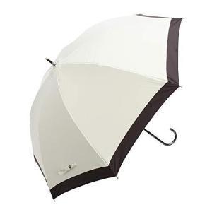 日傘 完全遮光 軽量 レディース 長傘 uvカット 晴雨兼用 モノトーン ブランド おしゃれ assa(FL202/アイボリー) tomutomu