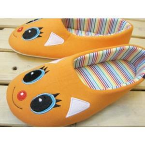 ルームシューズ モダンペッツ スピーチルーム Cool Cat(クール・キャット) オレンジ/レディース|tomy