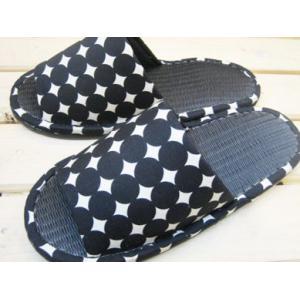 炭を使った畳調スリッパ モダンサークル ブラック/メンズサイズ(〜27cm程度まで)|tomy