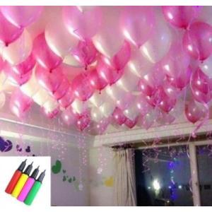 風船 バルーン お姫様 カラー 150個 空気入れ セット 演出 飾り付け ピンクXホワイト しあわせ倉庫