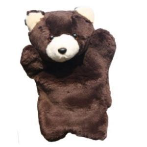 パペット アニマル  大劇団 黒クマ ぬいぐるみ 人形 動物 かわいい