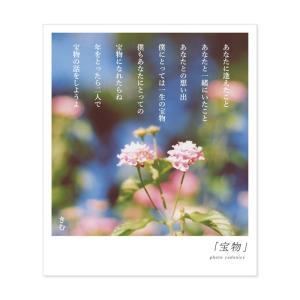 詩人きむ 言葉の花束ポストカード 「宝物」 名言 格言 詩人 言葉 ことば 夢 勇気 元気 卒業 旅...