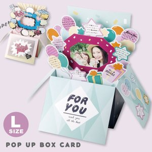 飛び出すボックス型 色紙 POP UP BOX CARD 寄せ書き グリーティング 送別 卒業 ギフ...