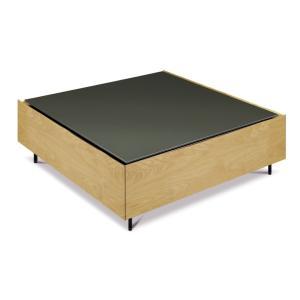 フロート センターテーブル 天板ガラスタイプ オーク|tonericoline