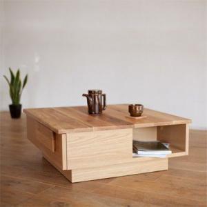 無垢材 テーブル リビングテーブル ホワイトオーク ムクムク78 tonericoline