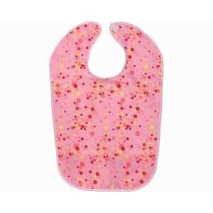 【食事用エプロン】ポケット付きハーフエプロン ◆水玉柄ピンク [10230]|tonerlp