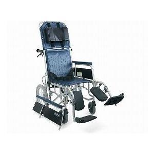 【車椅子】スチール介助用フルリクライニング車いす RR43-N 介助ブレーキなし|tonerlp