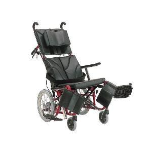 ティルティング、リクライニング車椅子 ぴったりフィット ◆メタリックレッドフレーム 座幅42cm|tonerlp
