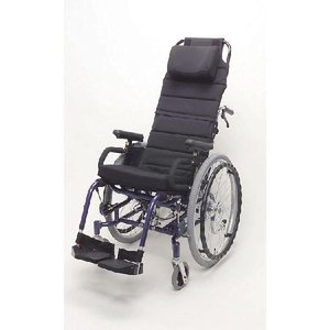 ティルト、リクライニング自走用車いす 楽歩 ハイバックセット 介助ブレーキ付 LAS-2LAH ◆座幅38cm|tonerlp